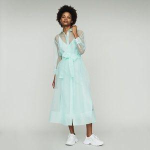 Maje Long Organza-Style Shirt Dress